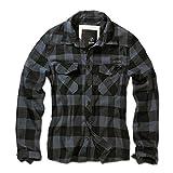 Brandit Camicia A Quadri Uomo Flanella Hemd - nero-grigio, XXL