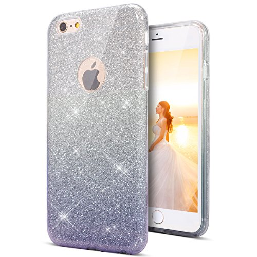 litzer Schutzhülle Silikon Hülle Crystal Clear TPU Handyhülle Case Durchsichtig Stoßdämpfend Transparent Weichem Flexible Tasche Bumper Schale für iPhone SE/5S/5 (Gradient schwarz) ()