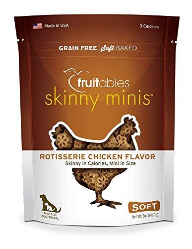 fruitables Skinny Minis Chewy Hund behandelt in Rotisserie Huhn Geschmack, 1–142g Hund Behandelt, Made In Usa
