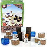 Minecraft Paper Craft Toy - Overworld Snow Biome - 48 Piece Easy to Build Figure Playset