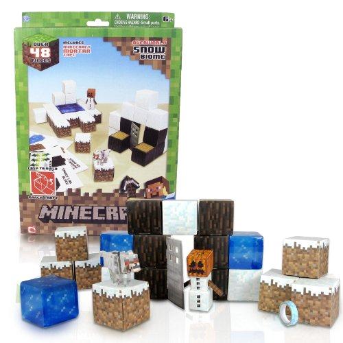 Minecraft 16712 - Papierset zum Selberbasteln, Schneebiom, 48 Teile
