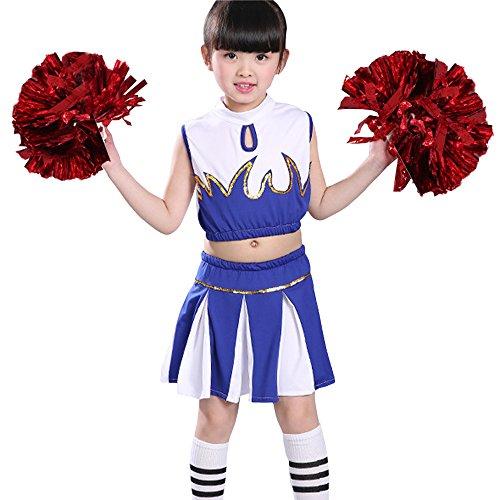XFentech Jungen & Mädchen Ärmellos Cheerleading Tanzen Kostüme -