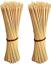 Jamboree kebab stick, roast stick, Bamboo Skewers Chocolate Fountain Wooden Fruits BARBECUE Kebab Stick Party Buffet Food Disposable WoodeJamboreeoast Fork Set (Pack of 200) Disposable Bamboo Roast Fork