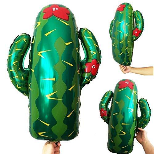 akteen Ballon mit großem Mylar-Ballon Fiesta Dekor Westernthema Party Geburtstag Dekoration Supplies UK Servietten Endstall Sombrero Riesen Motto Taco Llama Ballons Bout Grün ()