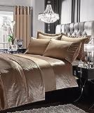 SELECT-ED Luxuries GRAN RENO - Juego de funda de edredón y funda de almohada, cortina o colcha a juego plata Talla:Curtain: ( 66' x 72' )