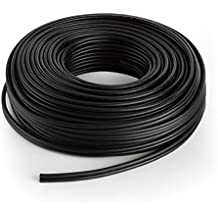 NUMAN Cable para altavoz CCA Aluminio Cobre (ideal para HiFi y home cinema, 2 x 2,5 mm, 30 m de largo) - negro