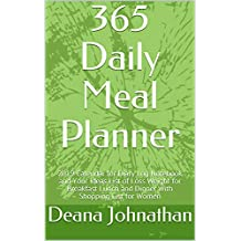 365 Daily Meal Planner: 2019 Calendar for Diary Log Notebook and Your Ideas List of Loss Weight for Breakfast Lunch and Dinner with Shopping List for Women