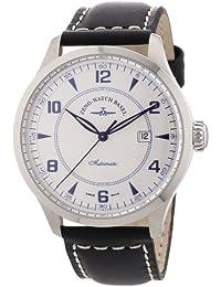 Zeno Watch Basel Retro Tre 6302-g3 - Reloj de caballero automático, correa de piel color negro