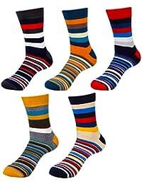 HBF 5 Pares Calcetines Hombre Algodon Calcetines Para Hombre Invierno Primavera