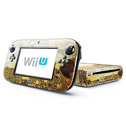 Price comparison product image Joseph Rippl Ronai - Lady In Her Garden, Skin Sticker Vinyl Cover with Leather Effect Laminate and Colorful Design for Nintendo Wii U