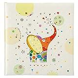 Goldbuch Babyalbum, Elephant, 30 x 31 cm, 60 weiße Blankoseiten mit 4 illustrierten Seiten und Pergamin-Trennblättern, Kunstdruck mit Goldprägung, Grün, 15439