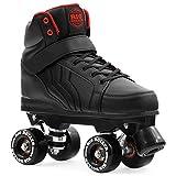 Rio Roller Kicks Quad Skate Patins Unisexe pour Adultes, RIO225, Noir, 39.5