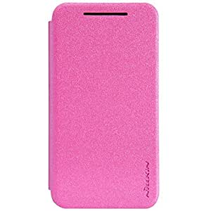 Coversncases Nillkin Sparkle Leather Flip Stand Bumper Back Case Cover ForHTC Desire 210 - Cute Pink