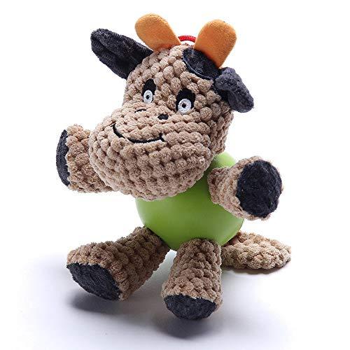 TFENG Plüsch Quietschspielzeug für Hunde Langlebiger Hund Kauspielzeug -