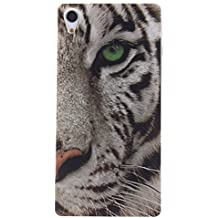 """KATUMO® Funda para Sony Z2, Carcasa Silicona Protectora Cubierta para Sony Xperia Z2 5.2"""" Transparent Gel Case Bumper Cover[Bonita y Resistente]-Tigre"""
