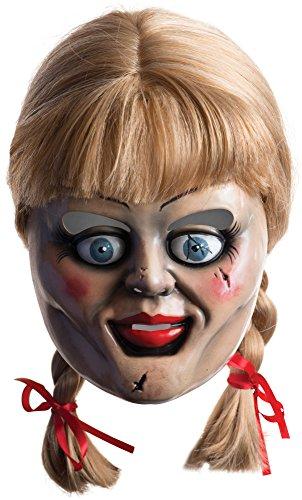 e Maske und Perücke - multicolor, bedruckt, aus Kunststoff, Einheitsgröße. (Rag Doll Fancy Dress Halloween)