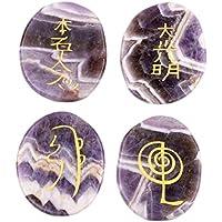 DivineTM heilende Kristalle Indian mit natürlichem Edelstein Amethyst mit Reiki-Standard, 4-teilig, lila mit gemischt... preisvergleich bei billige-tabletten.eu