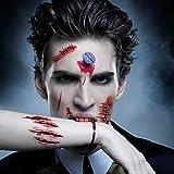 Anear 20 Stück Halloween Narben Halloween Tattoo Wunden Halloween Accessoires, Zombie Makeup