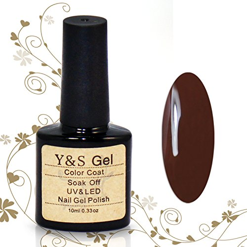 Perfect Summer 10ml Vernis à Ongles Semi-Permanent UV LED Soak Off Nail Art Manucure Brun Foncé 10023