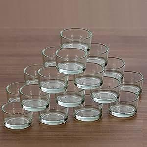 support en verre pour bougie chauffe plat standard 40 mm verre 20er set cuisine. Black Bedroom Furniture Sets. Home Design Ideas