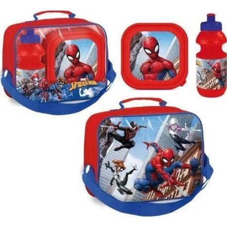 d26acf4bfe 14 Spiderman - Sac isotherme Spiderman avec boîte à goûter et gourde La  Spiderman Marvel