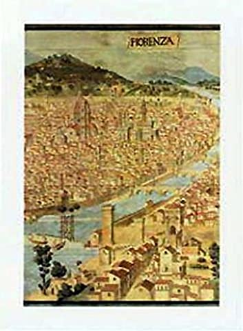 Posters: Florence Poster Reproduction - Historical Map (50 x 35 cm)