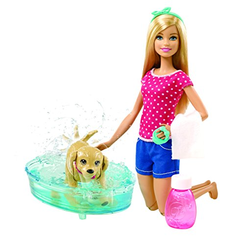 Image of Barbie Splish Splash Pup Playset