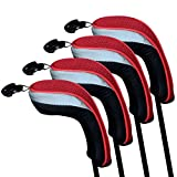 Andux 4pcs/Set Golf Hybrid Club Head Covers with Interchangeable No. Tag Pack of 4