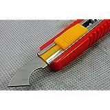 De-Lite Acrylic Plastic Fiber Sheets Cutter Hook Knife Blade with 2 Extra Blades Inside (Random Color)