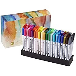 Rotuladores de punta doble para colorear libros, planificador de dibujo, calendario, proyectos artísticos, GC-100W, 100 colores