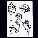 adgkitb 3 Piezas Arte Corporal Brazo Mangas Pierna Tatuaje Temporal Pegatina Pata de Lobo...