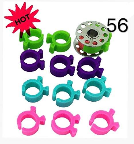 56 Stück Spulenschoner/Organizer (4 Farben) für Metall oder Kunststoff Nähspulen Nähspulen