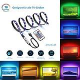 LED Beleuchtung TV Hintergrundbeleuchtung USB 2m LED Band Streifen Stripe mit Fernbedienung für 40-60 Zoll TV RGB 5050