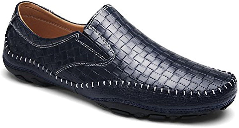 Fruumlhlings neue Männer fahren Schuhe Leder Europa und die Vereinigten Staaten gewebt Muster Peas Schuhe Flut Schuhe