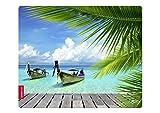 Speedlink Silk Mauspad Strand Paradies (weiche Oberfläche, geringer Gleitwiderstand, gummierte Unterseite, verschiedene Motive)