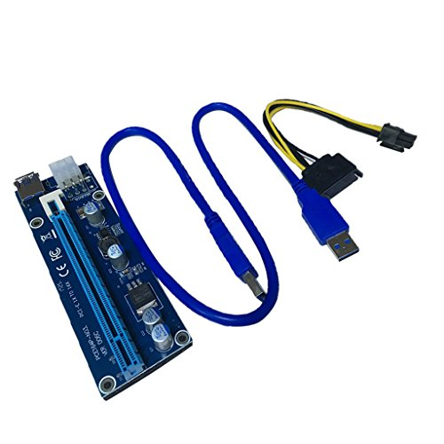 Gazechimp PCI-E Express 1x to 16x Extender Riser Board Card Adapter Riser Karte USB 3.0 Kabel