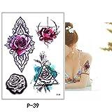 3pcs Fiore Uccello Decalcomania Falso Donna Uomo Fai da Te Arte Disegno del Tatuaggio Farfalla Ramo di Un Albero vivido Autoadesivo del Tatuaggio temporaneo P-39 14,8x21 cm