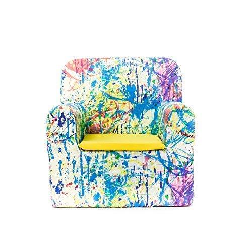 Sillon bebe sillita para recién nacidos desenfundable lavable resistente cómodo decoracion muebles niños Fabricado en España Varios Dibujos Estampados Tamaño único Edad 0 a 4 años (Pollock)