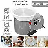 SHIJING Ruotando la Ruota di Ceramica elettrica Macchina per Ceramica 220V 550W 300mm Kit ceramista in Ceramica per ceramiche da Lavoro in Ceramica,5