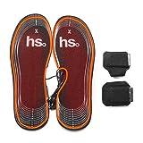 Plantillas calefactables recargables con batería de 4.5V, calentadores de pies para hombres y mujeres, suelas térmicas botas de caza de invierno, zapatillas de deporte para pesca, senderismo, acampada