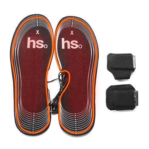 Semelles chauffantes rechargeables alimentées par batterie 4.5V, chauffe-pieds pour hommes et femmes, semelles thermiques, bottes de chasse en hiver chaussures baskets pour la pêche, randonnée