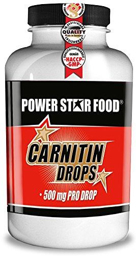 L-CARNITIN DROPS - HOCHDOSIERT - Fatburner / Fettverbrenner + Vitamin B6 zur Beschleunigung deiner DIÄT & DEFINITIONSPHASE - 90 Drops Kirsch à 500mg reines Carnitine - MADE IN GERMANY