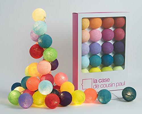 Guirlande lumineuse 20 boules pour chambre d'enfant - La Case de cousin Paul - Tao Tong - 00028