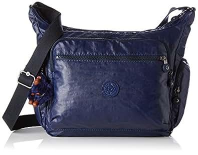 Kipling Gabbie BP Damen Schultertaschen, Blau (Lacquer Indigo), 35.5x30x18.5 cm