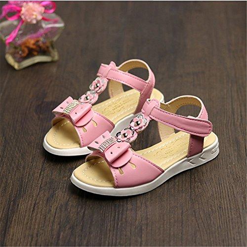 ZGSX 2017 nuove moda fiori ragazze sandali sandali primavera e l'estate pattini della principessa dei bambini Rosa