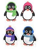 4er Set Taschenwärmer Pinguin (tolles Wichtelgeschenk) Handwärmer, Taschenheizkissen