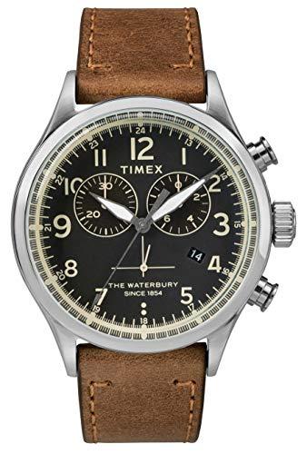 Timex Orologio Cronografo Quarzo Uomo con Cinturino in Pelle TW2R70900