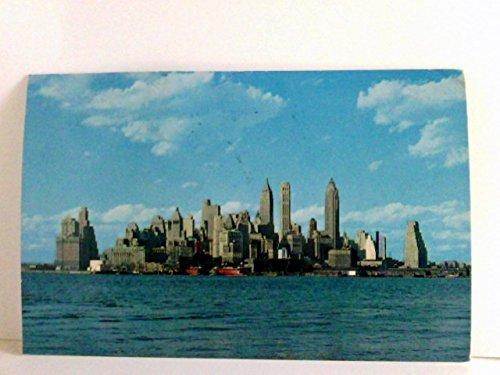 Lower Manhattan Skyline (AK New York City, Lower Manhattan Skyline. Gebäudeansicht, Schiffe, USA)