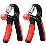 Hand Grip Strengthener 2 Pack,Raniaco Adjustable Hand Exercisers with Resistance Range 22 to 88 Lbs by Raniaco