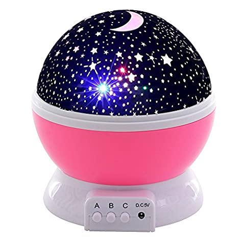 Songmics Nachtlicht Sterne Sternenhimmel Projektor Projektionslampe FSL05